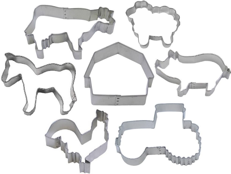 hot products fresh styles special for shoe 7 Piece Farm Cookie Cutter Set | The Cookie Cutter Shop