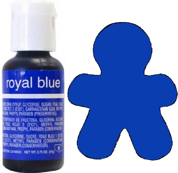 Chefmaster Liqua-Gel Food Coloring: Royal Blue ~ The Cookie Cutter Shop
